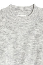 Ribbed jumper - Light grey marl - Ladies | H&M 3