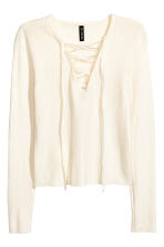 Top with lacing - Natural white - Ladies | H&M 2