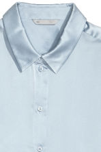 Silk shirt - Light blue - Ladies | H&M 3