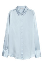 Silk shirt - Light blue - Ladies | H&M 2