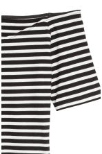 Off-the-shoulder dress - Black/White/Striped - Ladies | H&M 3