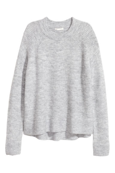 Knitted jumper - Light grey - Ladies | H&M