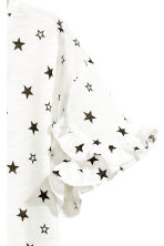 Frilled top - White/Stars -  | H&M 3