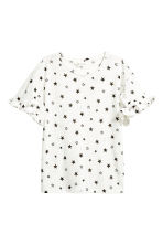 Frilled top - White/Stars -  | H&M 2