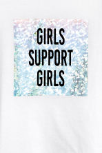 T-shirt with a print motif - White - Ladies | H&M CA 3