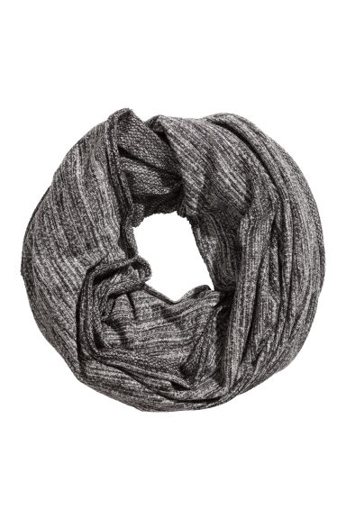 Jersey tube scarf - Black marl - Ladies | H&M