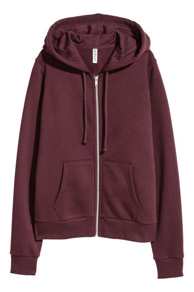 Hooded jacket - Burgundy -  | H&M IE