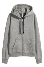 連衣帽外套 - Dark grey marl - Ladies | H&M 1