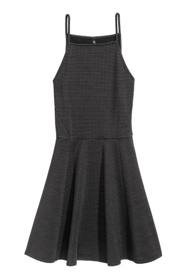 Jacquard-patterned dress - Black - Ladies | H&M CN 1