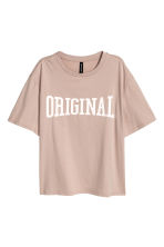 T-shirt ample - Taupe - FEMME | H&M BE 1
