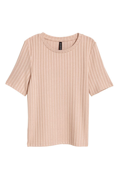 Ribbed top - Beige - Ladies | H&M