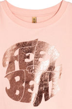 Printed cropped sweatshirt - Powder pink - Ladies | H&M 3