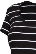 MAMA Cotton jersey top - Black/White striped - Ladies | H&M 3