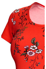 MAMA Cotton jersey top - Bright red/Floral - Ladies | H&M 3