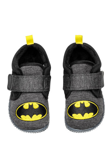 Jersey indoor shoes - Dark grey/Batman - Kids | H&M CN