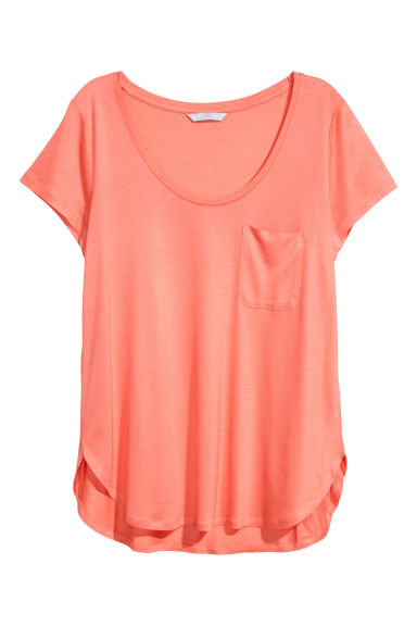 Jersey top - Coral - Ladies | H&M IE