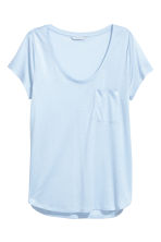 Jersey top - Light blue - Ladies | H&M CN 2