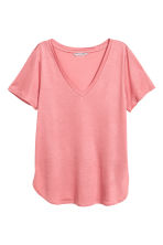 Tricot top met V-hals - Roze - DAMES | H&M BE 1