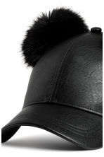 Cap with pompoms - Black - Ladies | H&M CN 3