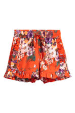 Frilled shorts - Red -  | H&M CA 2