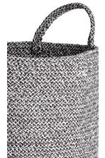 Cotton storage basket - Dark grey marl - Home All | H&M 2