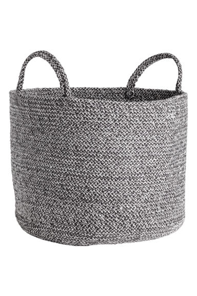 Cotton Storage Basket - Dark gray melange - Home All | H&M CA
