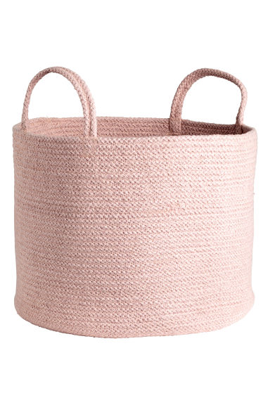 Cotton storage basket - Light pink marl - Home All | H&M GB 1