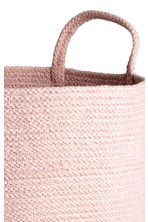 Cotton Storage Basket - Light pink melange - Home All | H&M CA 2