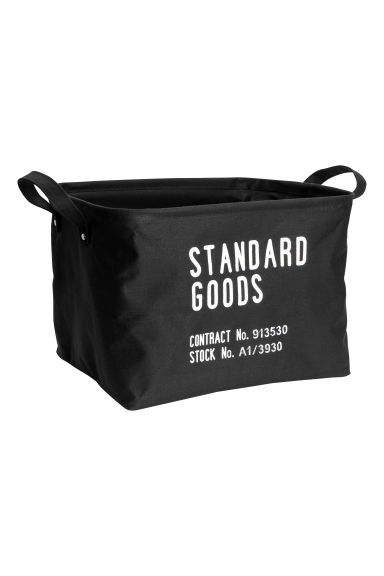 Storage basket - Black - Home All | H&M CN 1