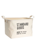 Storage basket - Natural white - Home All | H&M CN 1