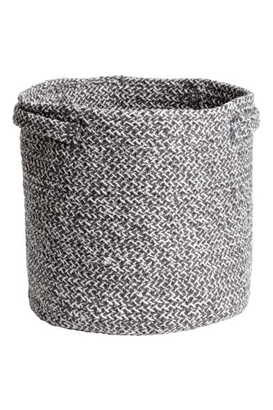 Cotton storage basket - Dark grey marl - Home All | H&M 1