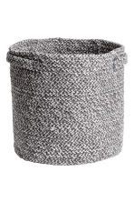 Cotton storage basket - Dark grey marl - Home All | H&M CN 1