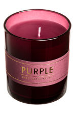 Scented candle in glass holder - Purple/Sweet grass - Home All | H&M IE 3