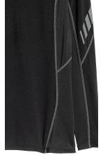 Long-sleeved sports top - Black - Men | H&M 3