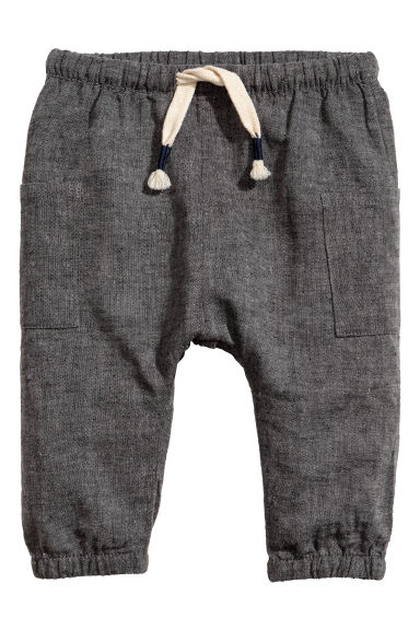 Linen-blend joggers - Dark grey - Kids | H&M