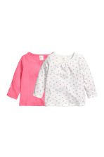 2-pack jersey tops - Pink/White -  | H&M 1