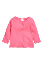 2-pack jersey tops - Pink/White -  | H&M 2