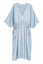 Satin kaftan dress - Light blue - Ladies | H&M CN 2