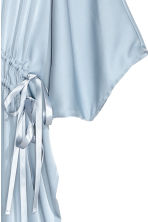 Satin kaftan dress - Light blue - Ladies | H&M CN 3