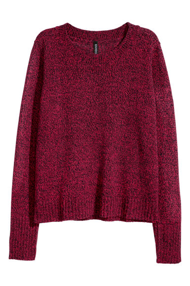 Knitted jumper - Red marl - Ladies | H&M CN 1