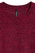 Knitted jumper - Red marl - Ladies | H&M CN 2