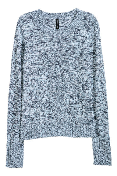Knitted jumper - Blue marl - Ladies | H&M