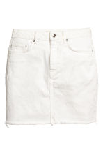 Denim skirt - White denim - Ladies | H&M CN 2