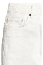 Denim skirt - White denim - Ladies | H&M CN 4