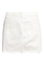Denim skirt - White denim - Ladies | H&M CN 3