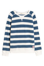 Cotton piqué top - Blue/White striped - Kids | H&M CN 2
