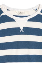 Cotton piqué top - Blue/White striped - Kids | H&M CN 3