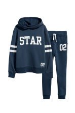 Hooded Sweatshirt and Joggers - Dark blue -  | H&M CA 2