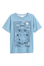 Generous fit T-shirt - Blue/Rocket - Kids | H&M CN 2