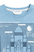 Generous fit T-shirt - Blue/Rocket - Kids | H&M CN 3